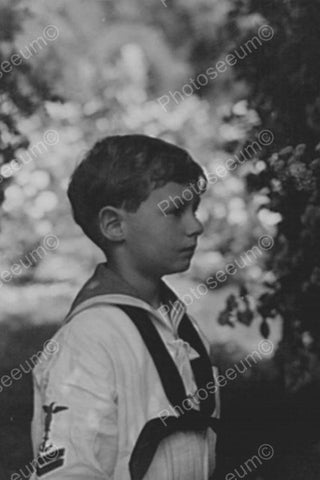 Charming Young Sailor Boy Profile 4x6 Reprint Of Old Photo