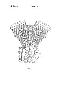 usa patent harley davidson v twin engine drawings. Black Bedroom Furniture Sets. Home Design Ideas