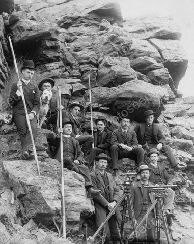 Engineer Corps Deadwood Railroad 1880s 8x10 Reprint Of Old Photo - Photoseeum
