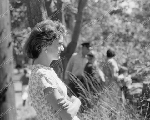 Jacqueline Kennedy Looking Out To Field Vintage 8x10 Reprint Of Old Photo