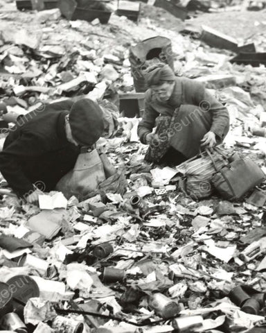 Couple Dig In Dump Looking For Food 8x10 Reprint Of Old Photo