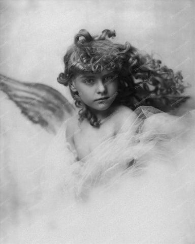 Victorian Little Girl Angel 1900s 8x10 Reprint Of Old Photo - Photoseeum