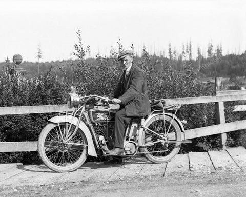 Excelsior Motorcycle 1928 Vintage 8x10 Reprint Of Old Photo