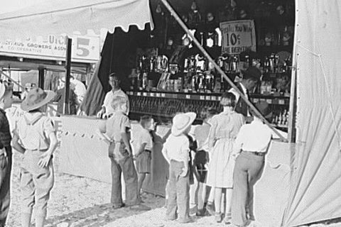 Florida Fair Midway Game Booth 4x6 Reprint Of Old Photo 1930s