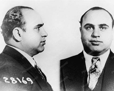 Al Capone Mugshot Vintage 8x10 Reprint Of Old Photo