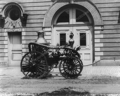 Antique Fire  Engine Wagon 1911 8x10 Reprint Of Old Photo