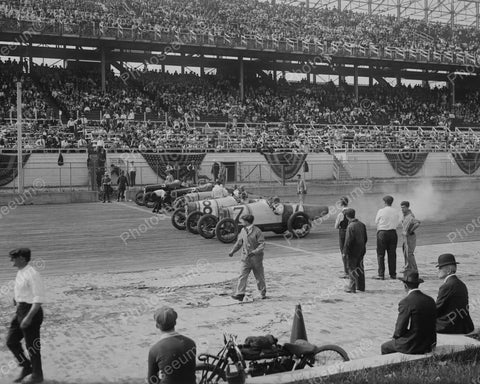 Auto Race 1918 Vintage 8x10 Reprint Of Old Photo