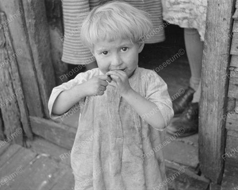 Young Child During Depression 1935 Vintage 8x10 Reprint Of Old Photo