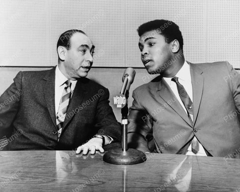 Cassius Clay Muhammad Ali And Howard Cosell Vintage 8x10 Reprint Of Old Photo
