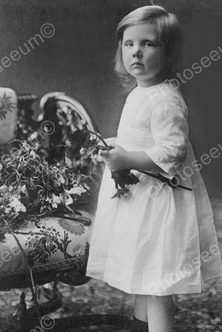 "Charming Litltle Dutch Girl ""Princess"" 4x6 Reprint Of Old Photo"