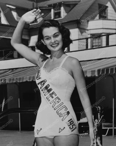 Betbeze Yolande Miss America 1951 8x10 Reprint Of Old Photo