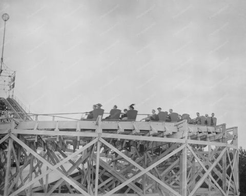 Antique Roller Coaster Coney Island 8x10 Reprint Of Old  Photo