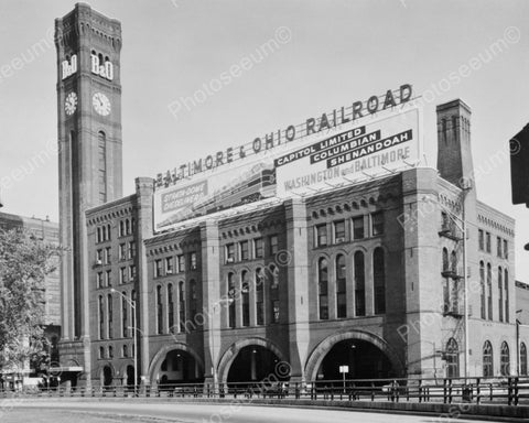 Baltimore And Ohio Railroad Station Viintage 8x10 Reprint Of Old Photo
