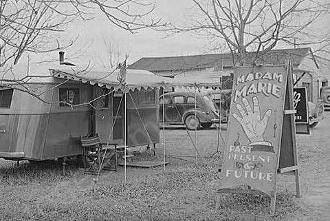 Alabama Fortune Teller Trailer 1940s 4x6 Reprint Of Old Photo - Photoseeum