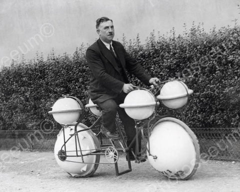 Amphibious Bicycle Vintage 8x10 Reprint Of Old Photo