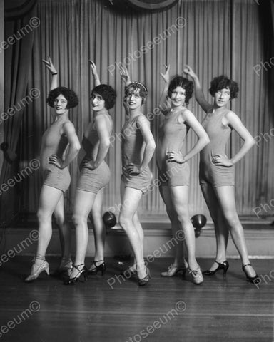 Women Dance Class Vintage 8x10 Reprint Of Old Photo