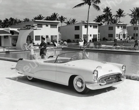 Buick Wildcat Automobile 1953 Vintage 8x10 Reprint Of Old Photo