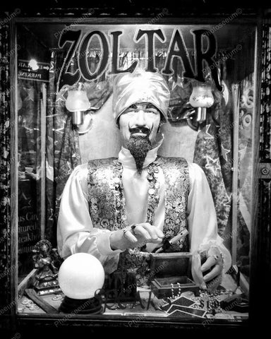 Zoltar Fortune Teller Coin Op Machine Vintage 8x10 Reprint Of Old Photo