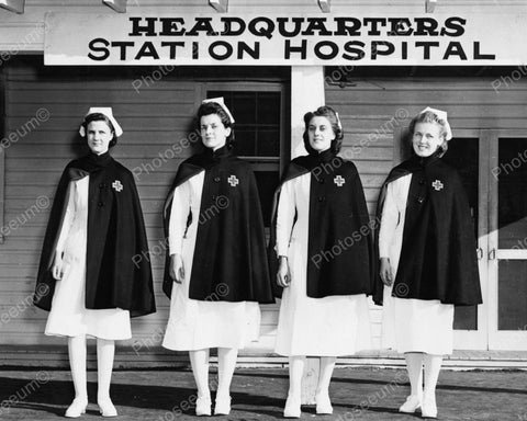 American Red Cross Nurses At Headquarters 1941 Vintage 8x10 Reprint Of Old Photo - Photoseeum