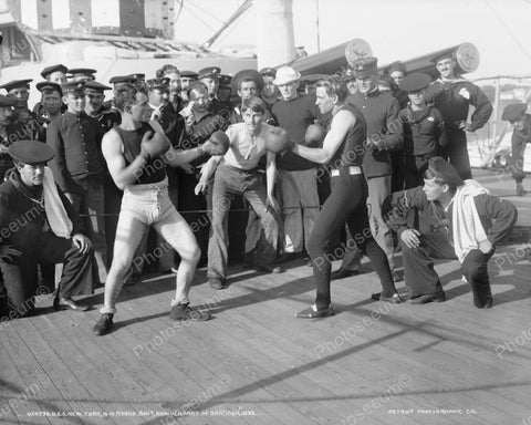 Boxing USS New York Ship 1899 Vintage 8x10 Reprint Of Old Photo - Photoseeum