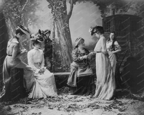Victorian Ladies At Fortune Teller 1900s 8x10 Reprint Of Old Photo