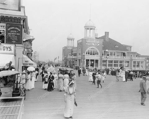 Boardwalk And Steel Pier Atlantic City Vintage 8x10 Reprint Of Old Photo