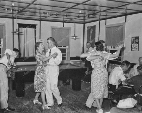 Billiards With People Dancing & Playing Cards 8x10 Reprint Of 1938 Old Photo
