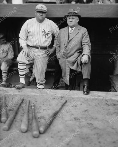 Babe Ruth John McGraw New York Vintage 8x10 Reprint Of Old Photo