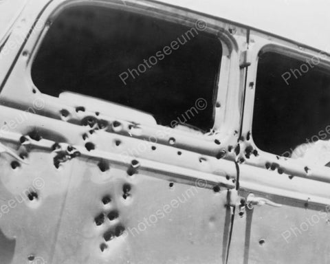 Bonnie & Clyde Riddled Car 1930s 8x10 Reprint Of Old Photo