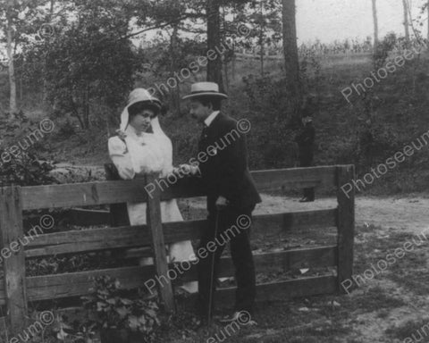 Victorian Romantic Couple 1900s Vintage 8x10 Reprint Of Old Photo