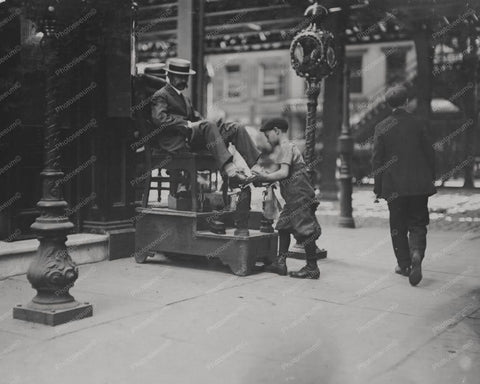 Bootblack Shoe Shine Boy New York 8x10 Reprint Of Old Photo