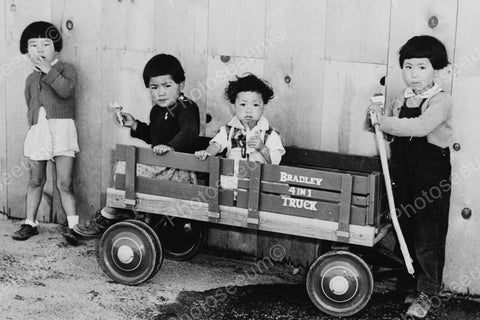Children With Bradley 4 In 1 Truck Wagon 4x6 Reprint Of Old Photo - Photoseeum