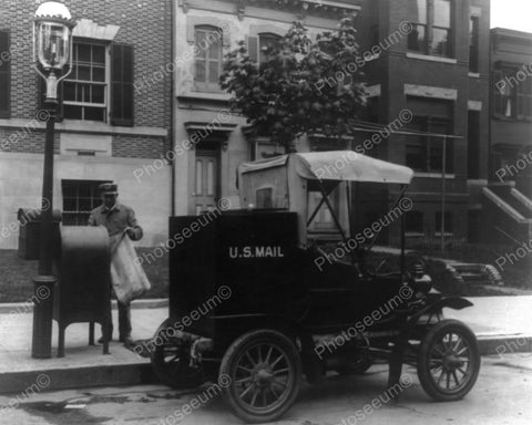 US Mail Truck Built Postman George Baum 1908 Vintage 8x10 Reprint Of Old Photo