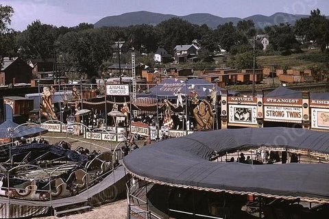 Vermont State Fair Animal Circus 4x6 Reprint Of 1940's Old Photo