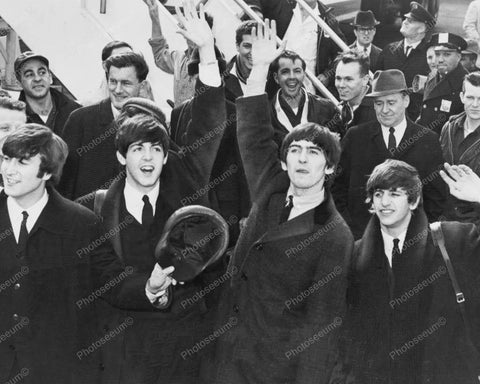 Beatles Arriving in America Vintage 8x10 Reprint Of Old Photo
