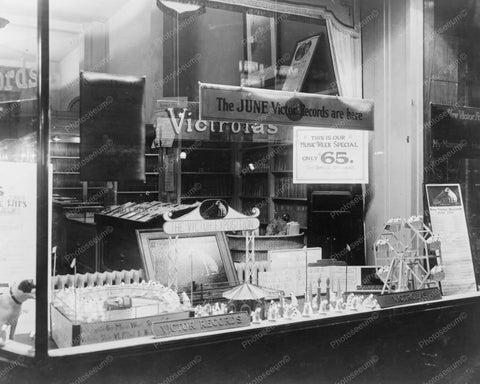 Victrola Exposition Window Display 1920s 8x10 Reprint Of Old Photo