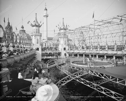 Coney Island Circus 1905 Vintage 8x10 Reprint Of Old Photo - Photoseeum