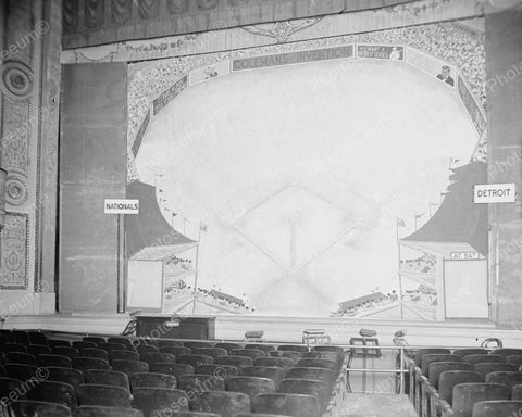 Baseball Score Board In Theater 1924 Vintage 8x10 Reprint Of Old Photo - Photoseeum