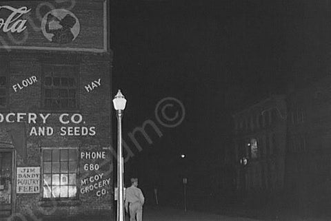 Alabama Park Night Scene Coca Cola Sign 4x6 Reprint Of Old Photo - Photoseeum