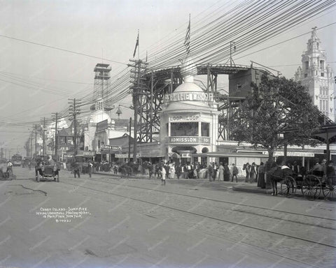 Coney Island Loop The Loop Admission 10 Cents 8x10 Reprint 1912 Old  Photo