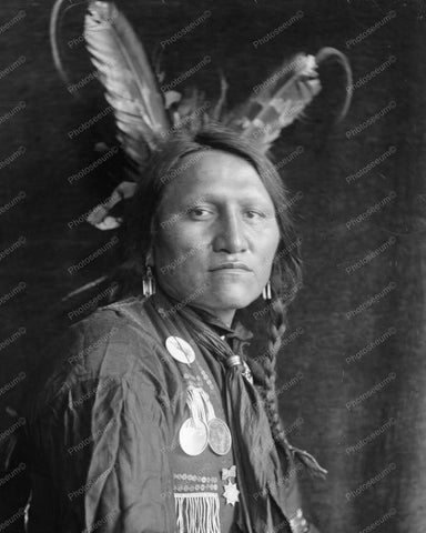 Charging Thunder A Sioux Indian Vintage 8x10 Reprint Of Old Photo