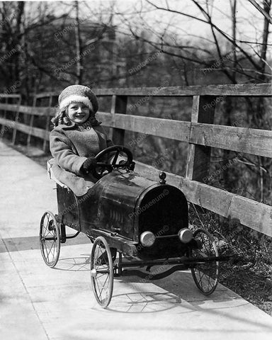 Pedal Car Autumn Vintage 8x10 Reprint Of Old Photo