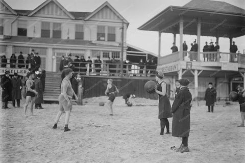 Coney Island Beach Ball Players 1800s 4x6 Reprint Of Old Photo