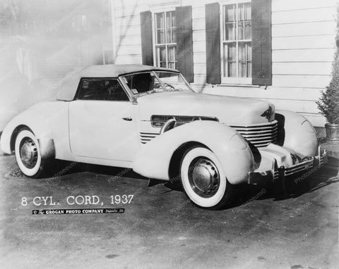 Cord 1937 Supercharged 812 Model Car 8x10 Reprint Of Old Photo