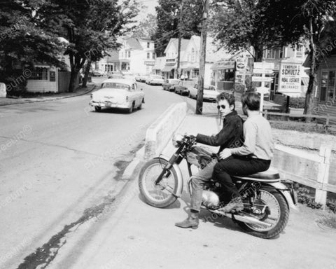 Bob Dylan Riding Motorcycle 1964 Vintage 8x10 Reprint Of Old Photo - Photoseeum