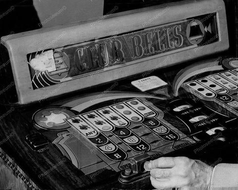 Bally Club Bells Console Slot Machine 1942 8x10 Reprint Of Old Photo