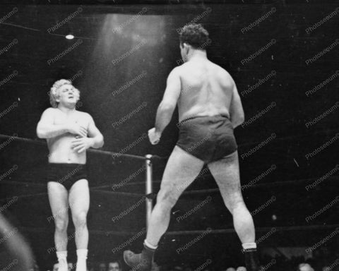 Wrestler Strides Toward Gorgeous George 8x10 Reprint Of Old Photo
