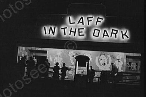 "Connecticut Fair ""Laff in the Dark"" 1940s 4x6 Reprint Of Old Photo"