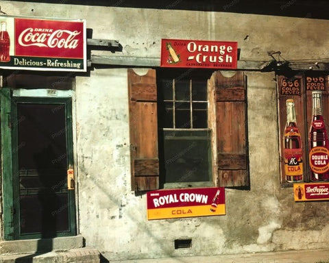 Cafe | Signs | Double Cola | Dr Pepper | 8x10 Reprint Of Old Photo