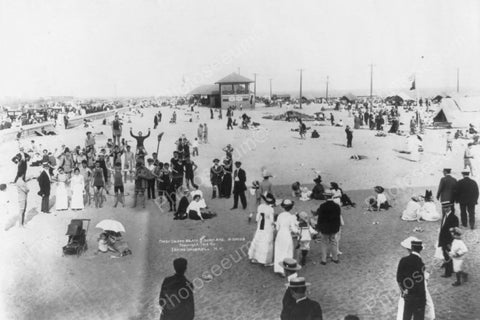 Coney Island Beach Surf Ave Scene 1910s 4x6 Reprint Of Old Photo
